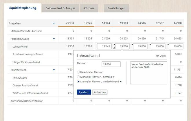 Die automatisch generierten Plandaten können manuell überschrieben werden um zukünftige Neuerungen zu berücksichtigen