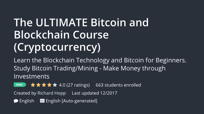 The ULTIMATE Bitcoin and Blockchain Course
