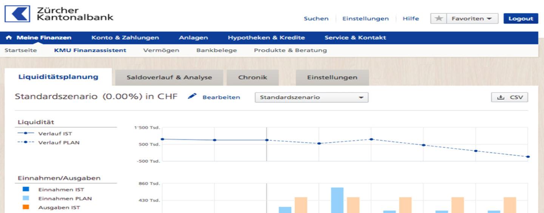 Zürcher Kantonalbank lanciert gemeinsam mit Contovista Online Finanzassistent für KMU