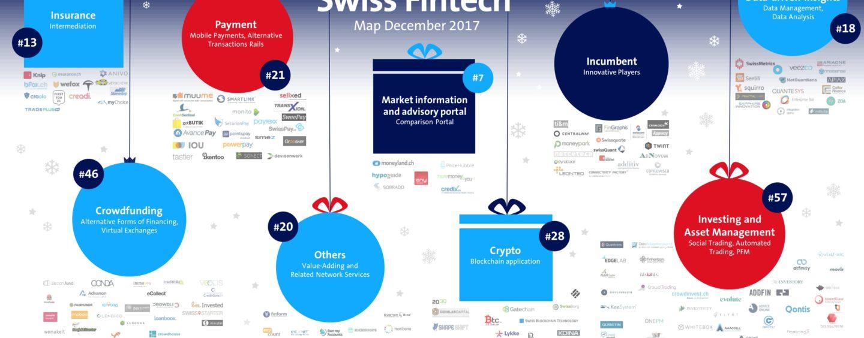 Swiss FinTech Startup Map December Christmas Edition