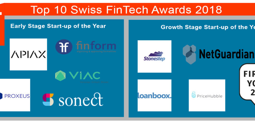 10 Startups selected for the Swiss FinTech Awards 2018