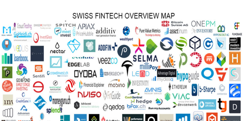 """BORN IN SWITZERLAND"" Swiss Original Fintech Overview Map 110 Companies per 3.3.2018"