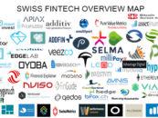 """BORN IN SWITZERLAND"" Swiss Original Fintech Overview Map 109 Companies per 3.2.2018"