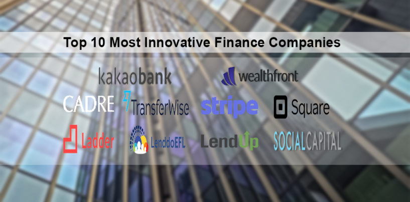 Top 10 Most Innovative Finance Companies
