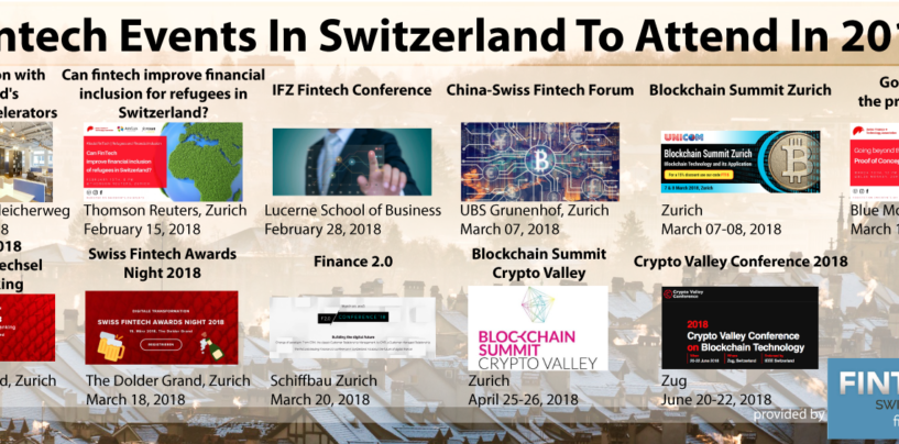 Fintech Events In Switzerland To Attend In 2018
