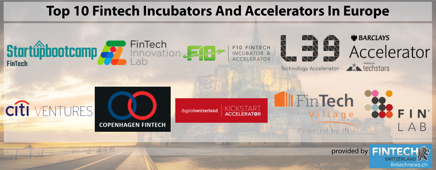 Top 10 Fintech Incubators And Accelerators In Europe 2018 Update