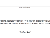 New Research Paper Examines ICO Regulation Across 25 Jurisdictions