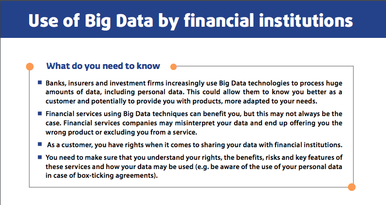 Use of Big Data by financial institutions
