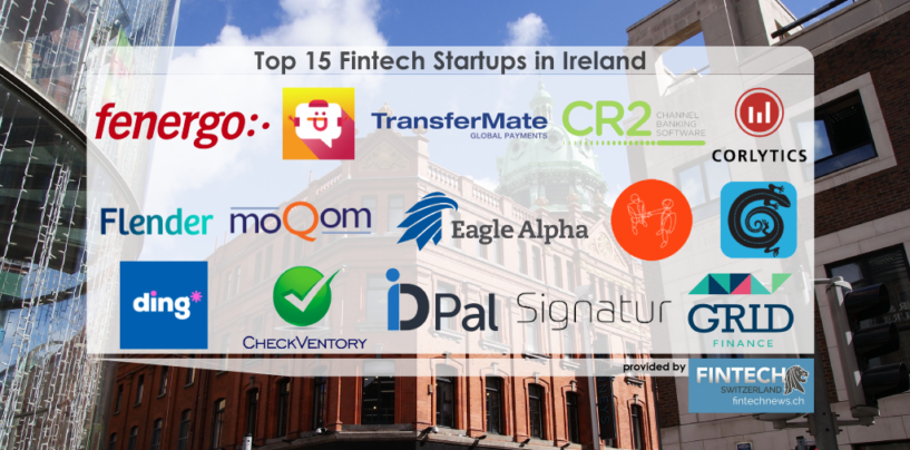 Top 15 Fintech Startups In Ireland