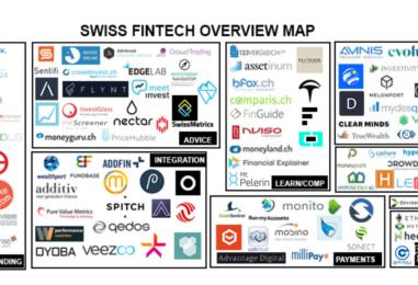 """BORN IN SWITZERLAND"" Swiss Original Fintech Overview Map Update: 119 Companies"