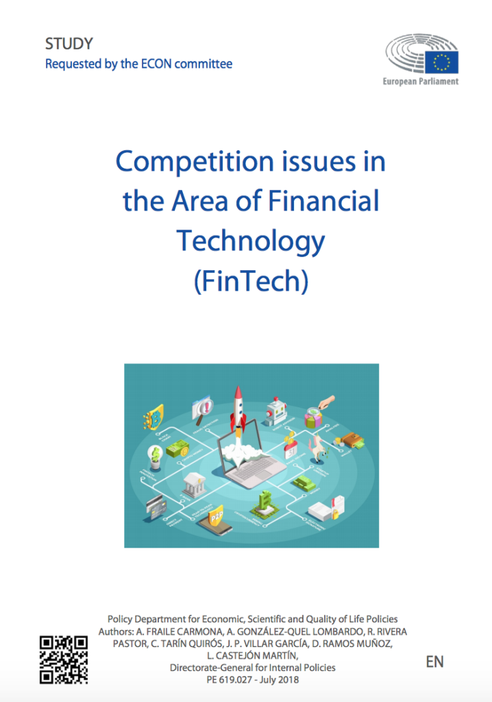 Competition issues in the Area of Financial Technology (Fintech) EP