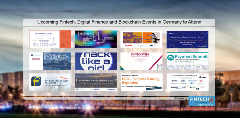 12 Upcoming Fintech, Digital Finance and Blockchain Events in Germany to Attend