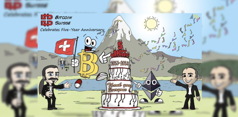 Bitcoin Suisse Celebrates Five-Year Anniversary