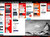 """BORN IN SWITZERLAND"" Swiss Original Fintech Overview Map Update: 133 Companies"