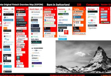 """BORN IN SWITZERLAND"" Swiss Original Fintech Overview Map Update: 133 Companies"