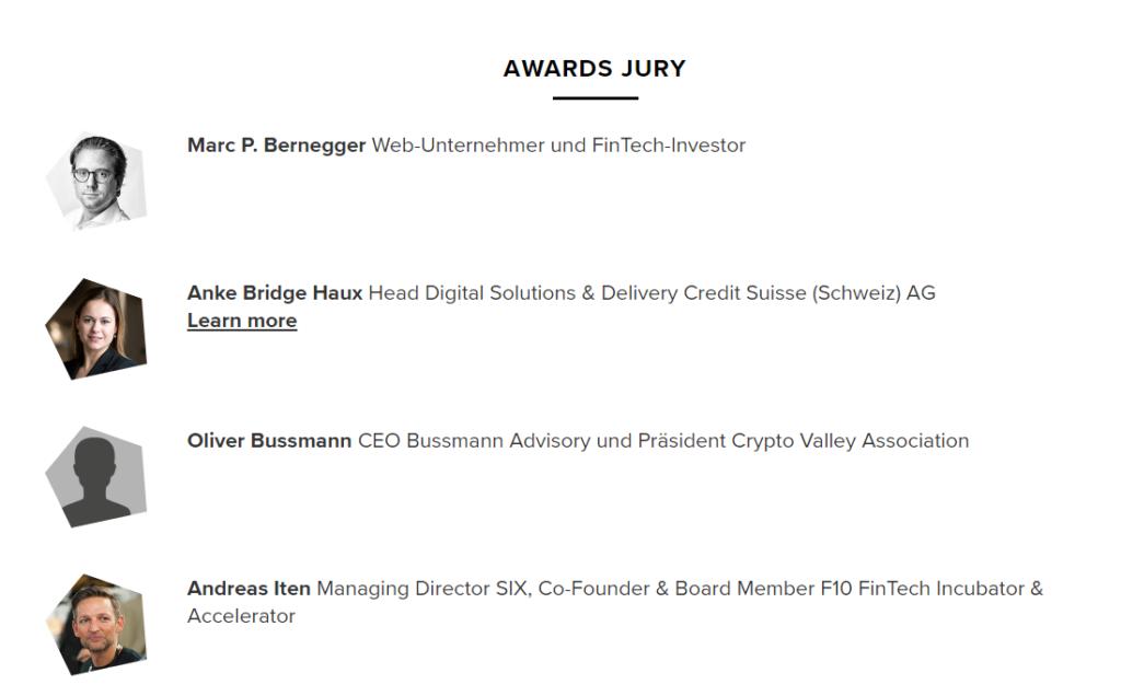 Swiss Fintech Awards 2019 Judges