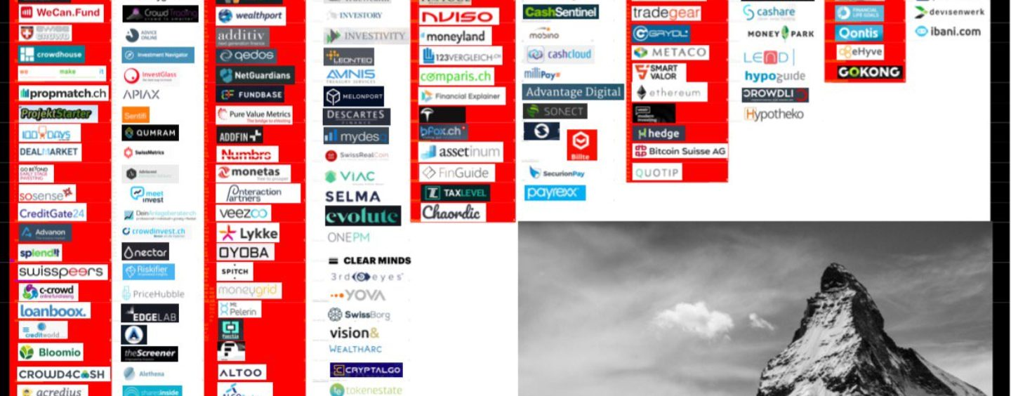 """BORN IN SWITZERLAND"" Swiss Original Fintech Overview Map Update: 140 Companies"