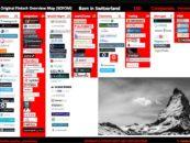 """BORN IN SWITZERLAND"" Swiss Original Fintech Overview Map Update: 140 Companies"