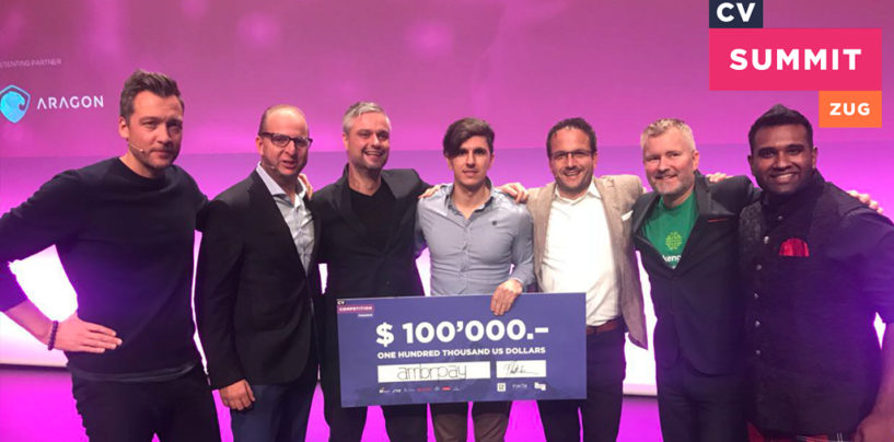 AmbrPay Wins 100'000 USD at CV Competition for Finance in Zug