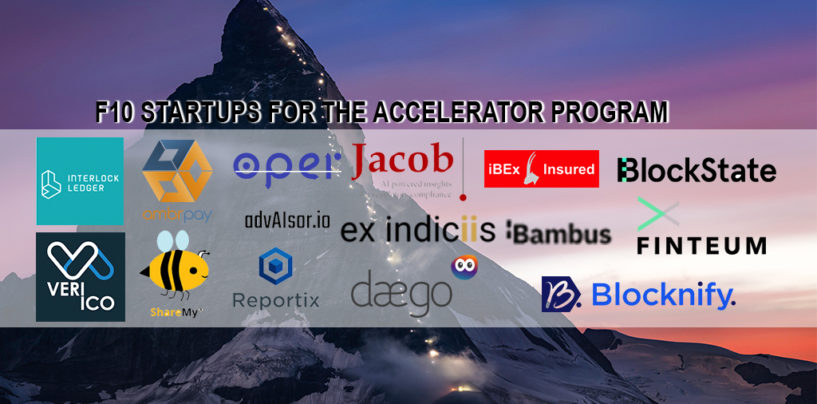 F10 Presents the Startups for the Accelerator Program in December