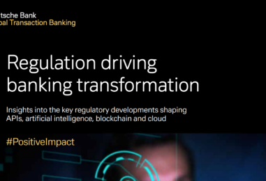 Deutsche Bank Whitepaper Explores Open APIs, Cloud, Blockchain and AI Regulations
