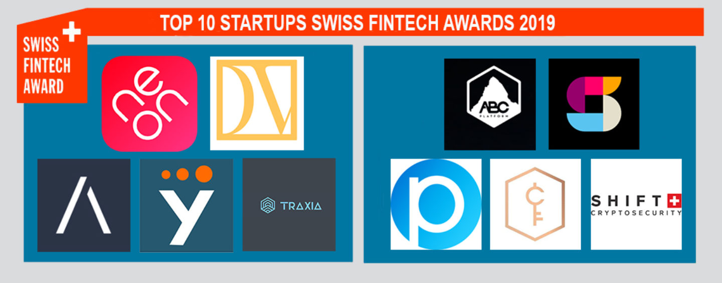 10 Fintech Startups Selected for the Swiss Fintech Awards 2019