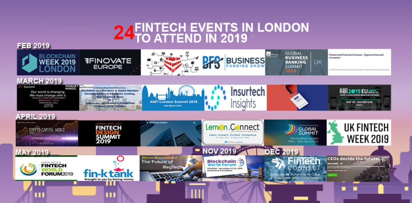 24 Fintech Events in London to Attend in 2019