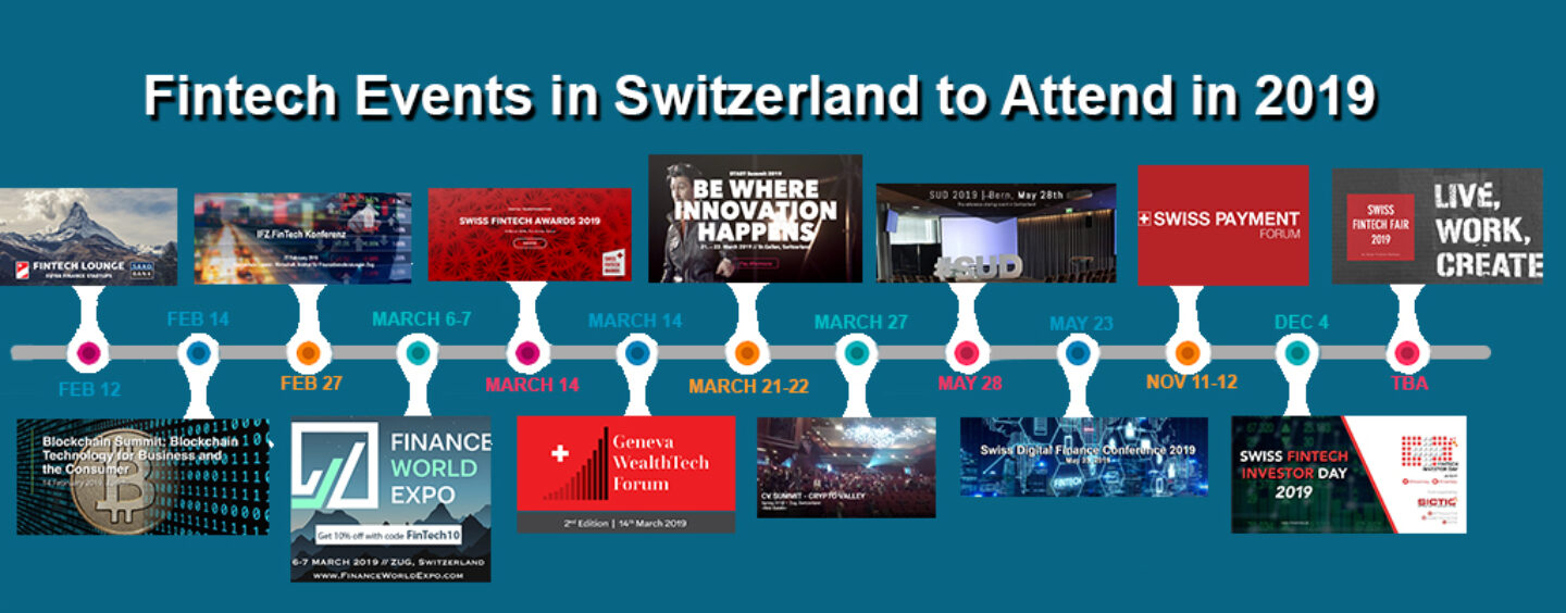 13 Fintech Events in Switzerland to Attend in 2019