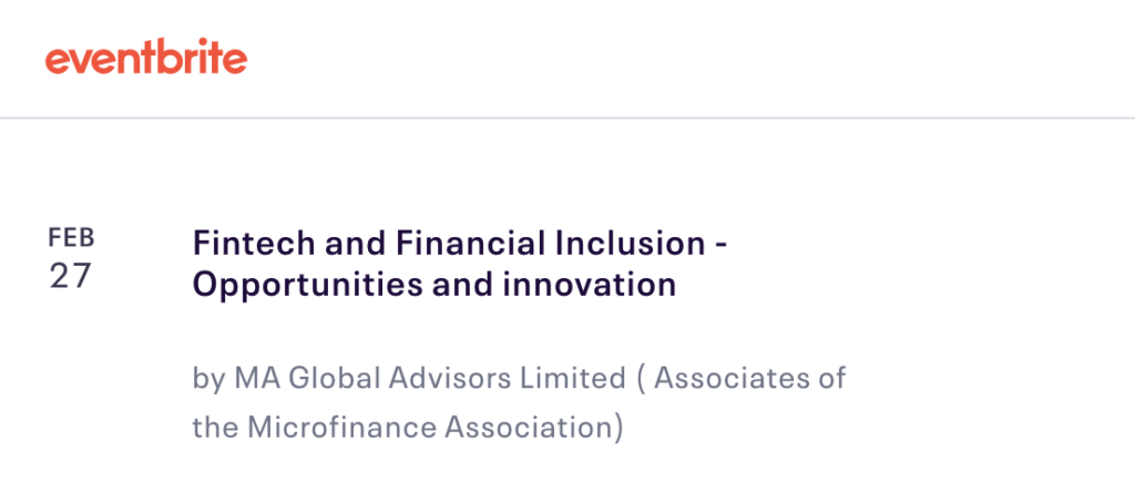 Fintech Events Conferences London 2019 - Fintech and Financial Inclusion – Opportunities and innovation