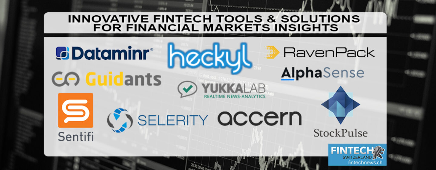 Innovative Fintech Tools and Solutions for Financial Markets Insights