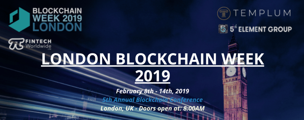 Fintech Events Conferences London 2019 - London Blockchain Week 2019