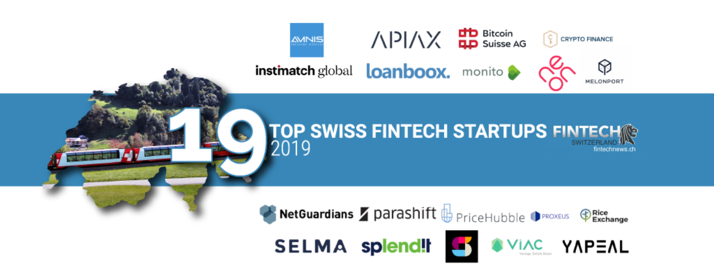 Top 19 FinTech Startups in Switzerland in 2019
