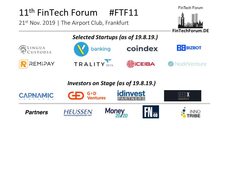 11th Fintech Forum Frakfurt Germany