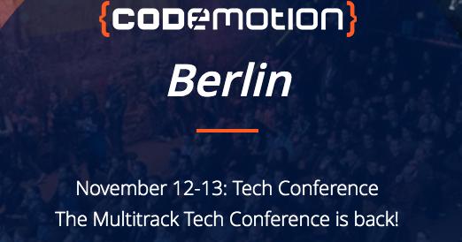 Codemotion Berlin 2019