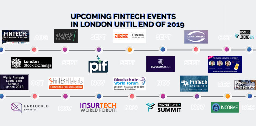 Upcoming Fintech Events in London until End of 2019