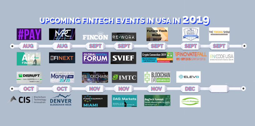 26 Upcoming Fintech Events in USA in 2019