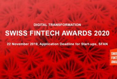 Swiss Fintech Award 2020 – Fintech Startups Should Apply Now