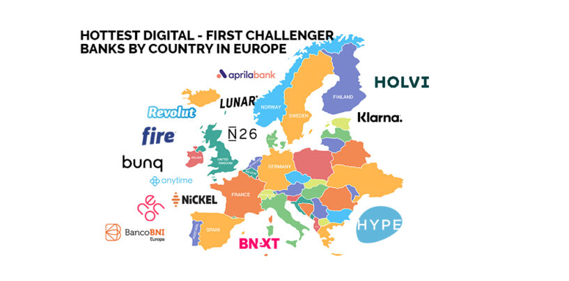 14 Hottest Digital-First Challenger Banks by Country in Europe