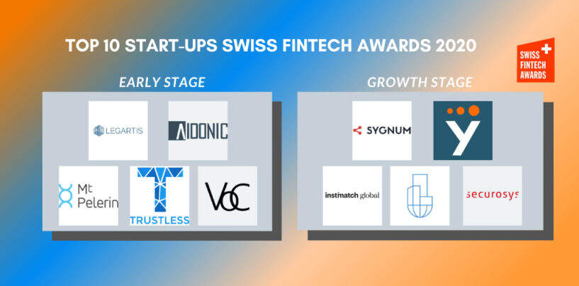 The 10 Nominees for the Swiss Fintech Startup Awards 2020 Revealed