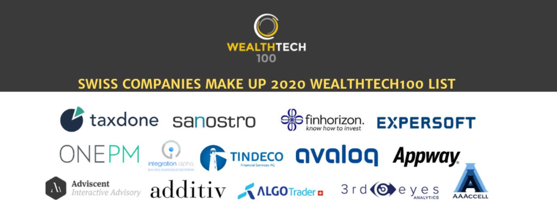 14 Swiss Companies Make up 2020 WealthTech 100 List