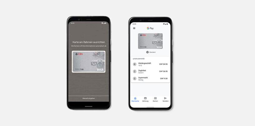 Google Pay und Samsung Pay neu bei UBS Verfügbar