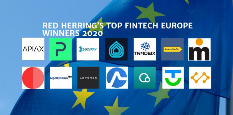 Red Herring's Top 14 Fintech Europe Winners 2020