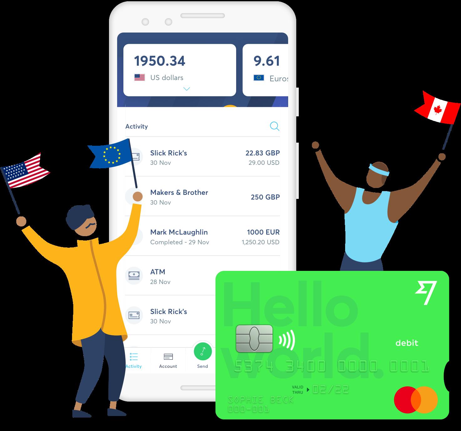 TransferWise debit card via TransferWise