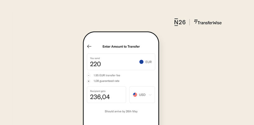 Transferwise Expanding Partnership With N26 for International Money Transfers