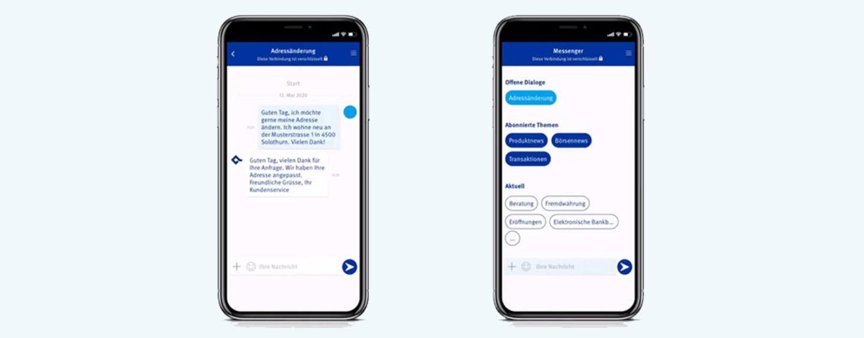 Baloise Bank SoBa bringt E-Banking Messenger