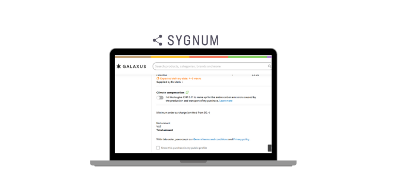 Future Scenario: Pay with Sygnum's Stablecoin when Ordering Online on Galaxus/Digitec
