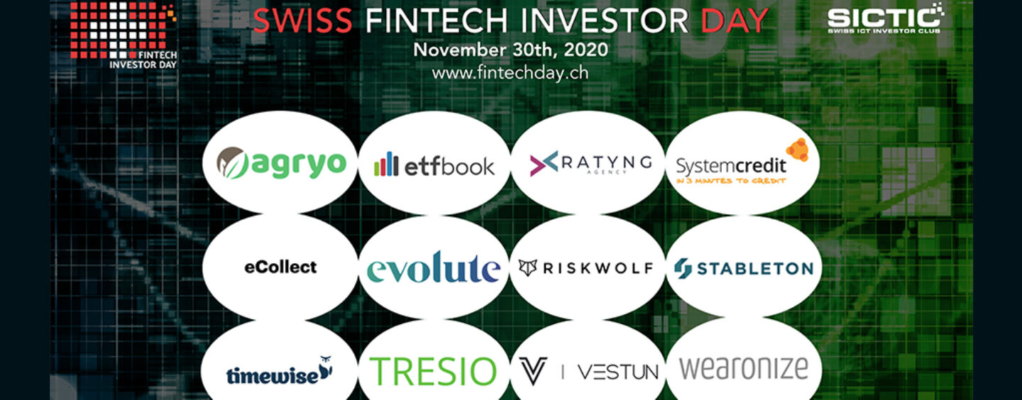 12 Swiss Fintech Startups Pitching for Funding