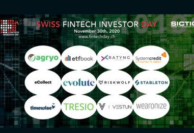 12 Swiss Fintech Startups Pitching for Funding