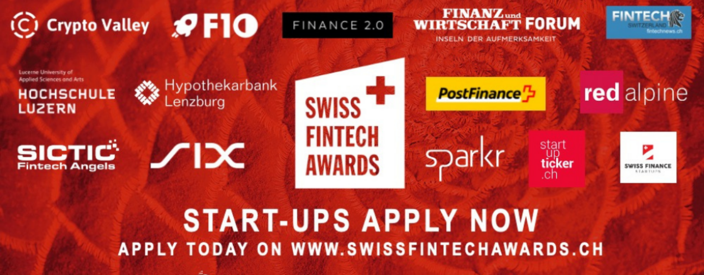 Swiss FinTech Awards 2021 Is Now Open for Applications