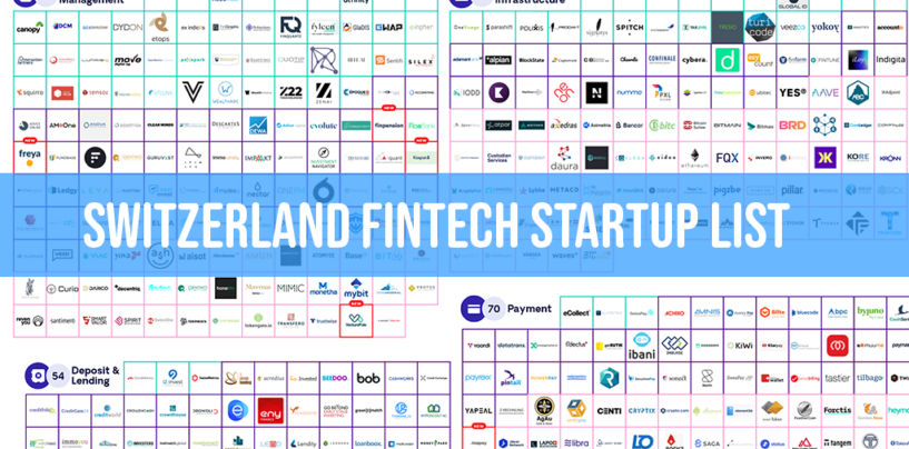 LIST OF FINTECH STARTUPS IN SWITZERLAND